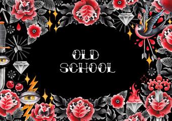 Watercolor old school design