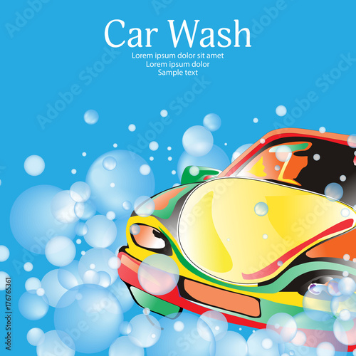 Car wash poster template for your design vector stock image and car wash poster template for your design vector maxwellsz