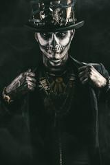 skeleton n tail-coat