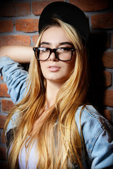 teen in glasses