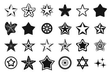 Stars icon set, simple style