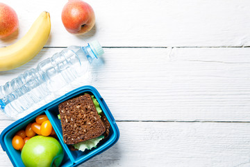 Picture of sports useful snack in container