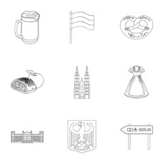 Architecture, nature, tourism and other web icon in outline style.Building, towers, attributes, icons in set collection.