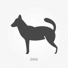 Silhouette icon dog