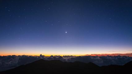 Sunrise at Haleakala National Park, Maui, Hawaii