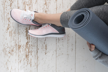 Running shoes and Workout Time