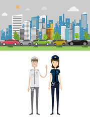 Traffic Jam Background and Character Concept