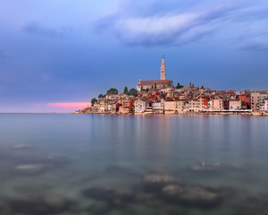Fotomurales - Rovinj Skyline in the Evening, Istria, Croatia