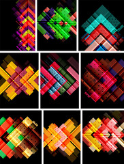Vector set of arrow abstract backgrounds