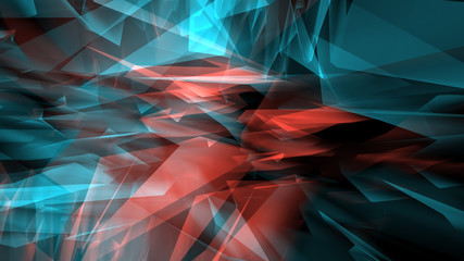 Chaos geometric polygon shapes, abstract technology background