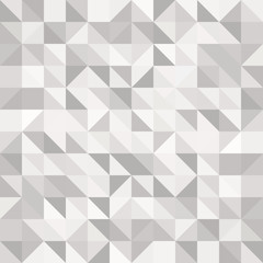 Abstract gray triangle and square in grey or white color pattern, Vector illustration