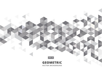 abstract gray geometric background with polygonal triangles, cube pattern.Template design with color triangle for brochure, leaflet, flyer design. Vector