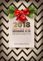 Merry Christmas or Happy New Year flyer or web banner design template.