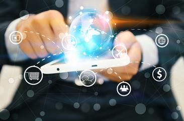 Social network concept. data communication.