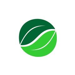 Circle Leaf Logo Element