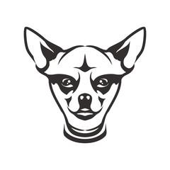 dog head logo icon vector