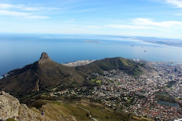 View from Table Mountain, Cape Town, South Afric