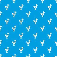 Duck ride in playground pattern seamless blue