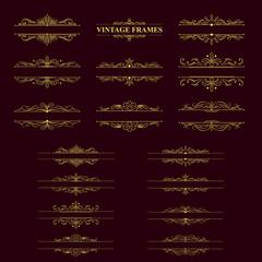 gold stripes frame with vintage elements