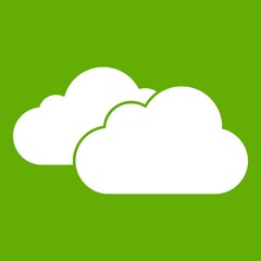 Clouds icon green