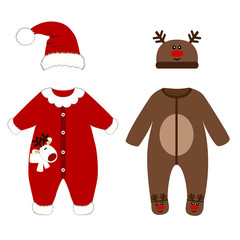 Romper suit. Christmas costumes for children.