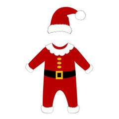 Romper suit. Christmas costume for children.