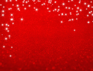 Glitters on red