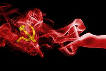 Communist smoke flag