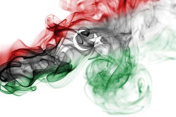 Libya national smoke flag