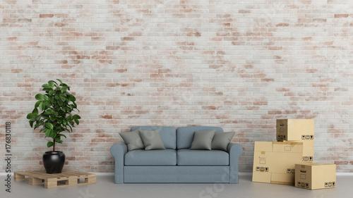 umzug konzept mit m bel lieferung durch spedition stockfotos und lizenzfreie bilder auf. Black Bedroom Furniture Sets. Home Design Ideas