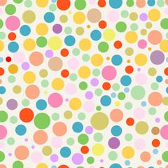 seamless polka dots background, vector