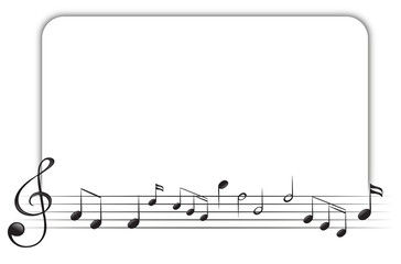 Border template with music notes