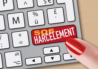 harcèlement, sexuel, femme, travail, violence, internet, abus, lutte, agression