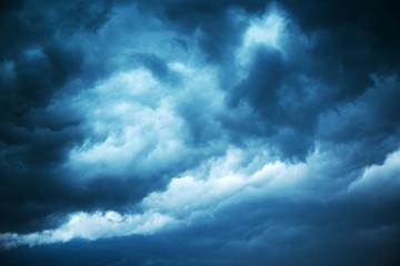 Dramatic stormy sky, dark clouds before rain
