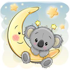Fototapeta premium Słodka Koala na Księżycu