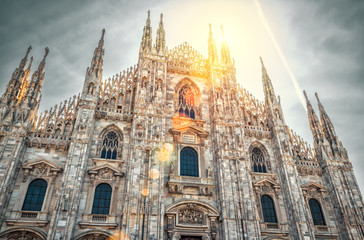 Fototapete - Milan Cathedral in Italy