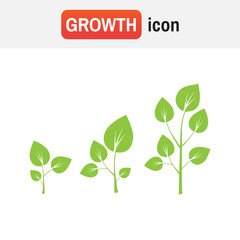 Growth tree sign vector. Tree growth diagram