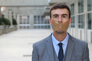Censored businessman unable to express his opinion