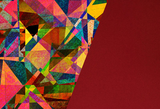 abstract graphic design - expressive colorful background