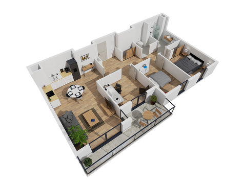plan 3d appartement