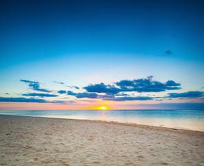 Beautiful landscape. Beach at sunset.