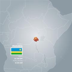 Rwanda information map.