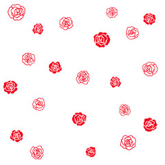 red roses simple vector pattern