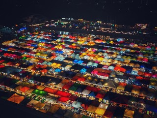 Thailand Colorful night market