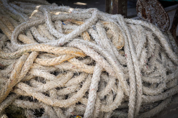 rope in pile