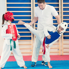 Foto op Aluminium Vechtsport Taekwondo Training For Children