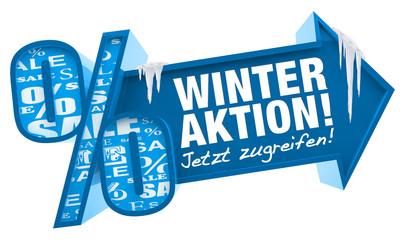 Winteraktion! Button, icon