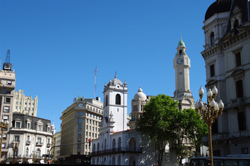 Buenos Aires vue de la Plaza de Mayo