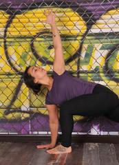 beautiful lady doing yoga
