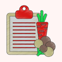 flat shading style icon Vegetable menu